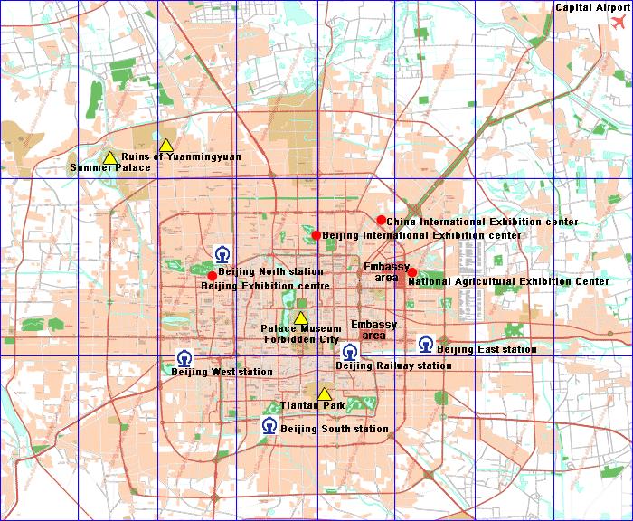 Days Inn Forbidden City Beijing exact location on the map of Beijing