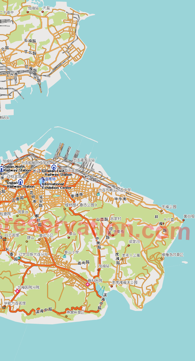 Booking Dalian Hotels with Dalian Map Map Hotels Near Pudong