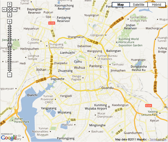 Map Of Kunming City Hotels Linkable On The Map Kunming Roads Map
