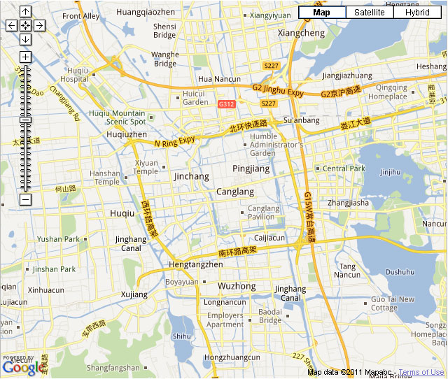Suzhou City Map Hotels In View On The Map Map Roads Of Suzhou City - Suzhou map