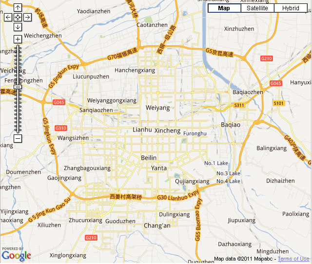 Xian Downtown Map