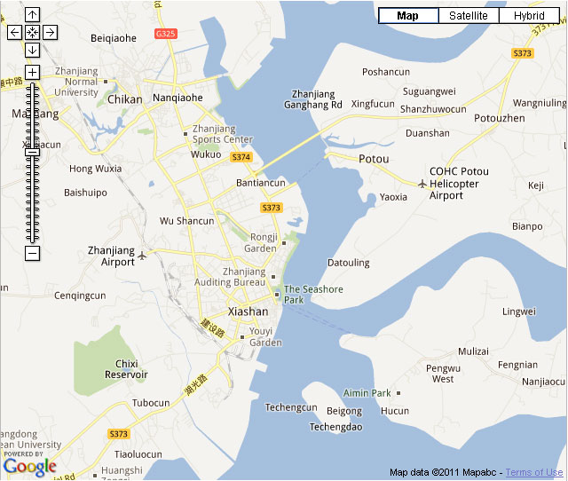 Zhanjiang Downtown Map