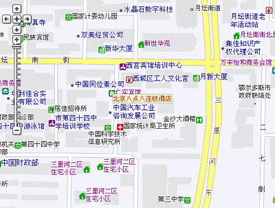 8.8 Beijing chain hotels--San Li River Branch Map