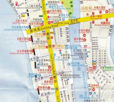 China Hainan (Sanya)Aolisai Hotel Map
