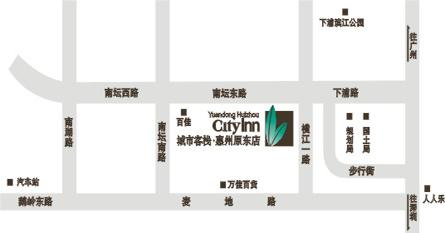 City Inn Yuandong ,Huizhou Map