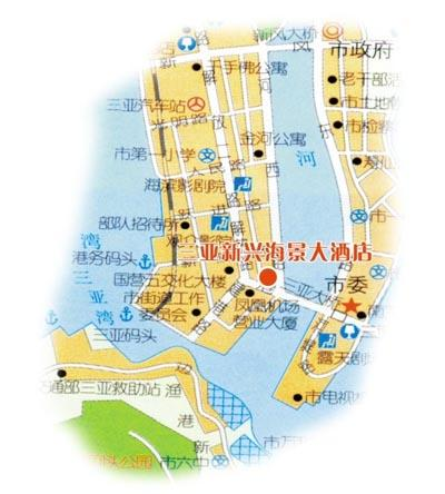 Emerging Seaview Hotel, Sanya Map