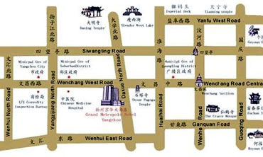 Grand Metropole Hotel Yangzhou Map
