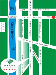 Grand Sun City Hotel, Changsha Map