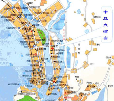 JOYA  international Hotel, Sanya Map