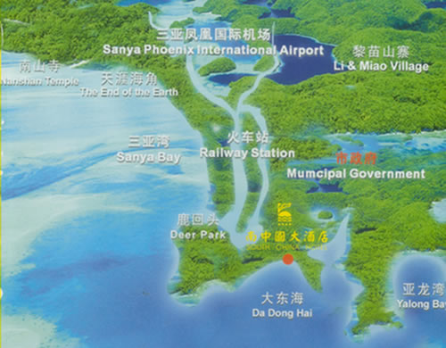 Sanya South China Hotel Map