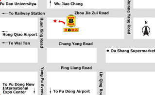 Super 8 Hotel Shanghai Chang Ying Map