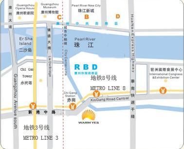 Warm Yes Hotel Guangzhou Map