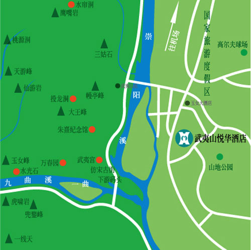 Wuyi Mountain Yeohwa Resort Map