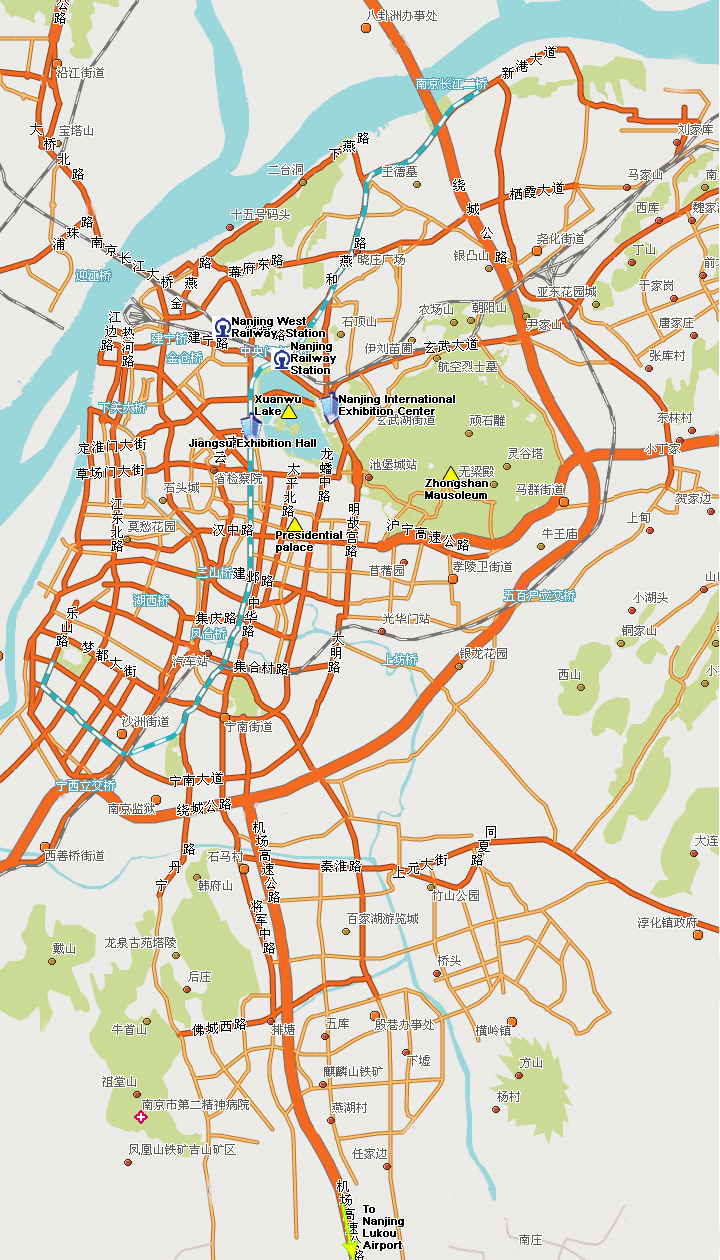 Map Of Nanjing Hotels Pointed Out On The Map Nanjing Roads