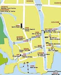 Kunshan China Map.Zhouzhuang Travel China Zhouzhuang Tours Guide